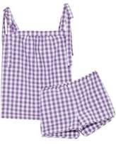 Three J NYC Gingham Cotton Top And Short Pajama Set