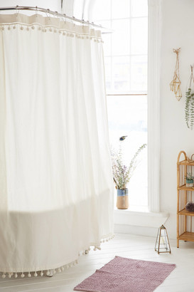 Urban Outfitters Magical Thinking Pompom Shower Curtain