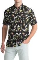 Free Nature Printed Rayon Shirt - Short Sleeve (For Men)