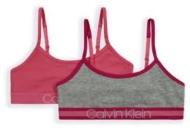 Calvin Klein Big Girls Crop Bra, 2 Pack