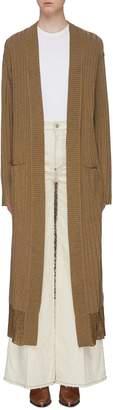 Sonia Rykiel Metallic rib knit long cardigan