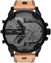 Diesel Men's Chronograph Mr. Daddy 2.0 Brown Leather Strap Watch 57mm