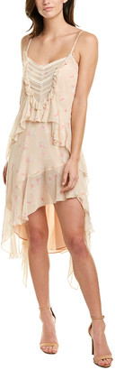 Karina Grimaldi Boho Silk-Blend Midi Dress