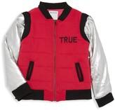 True Religion Little Boy's & Boy's Metallic Quilted Bomber Jacket