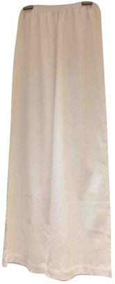 Eres White Cotton Trousers for Women