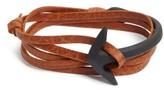 Miansai Men's Half Cuff Anchor Leather Wrap Bracelet