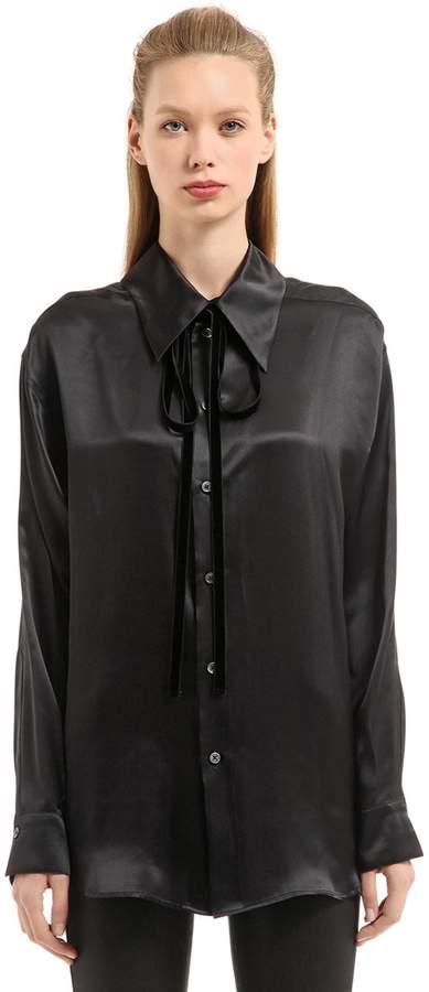 Ann Demeulemeester June Silk Satin Shirt