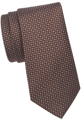 Saks Fifth Avenue Mini Diamond Silk Tie