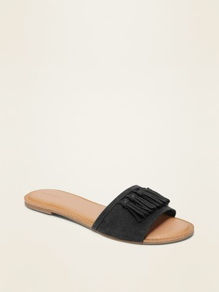 Old Navy Faux-Suede Multi-Tassel Slide Sandals for Women