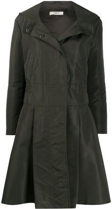 Prada Pre Owned Flared Hooded Coat
