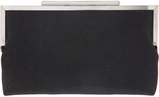 Nina Large Metallic Glitter Framed Envelope Clutch - Louella