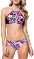 Jessica Simpson Botanica Highneck Halter Bikini Top