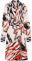 Emilio Pucci Printed Crepe Dress - Red