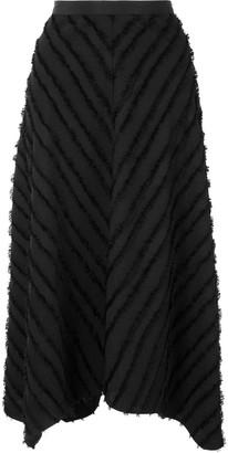 Proenza Schouler White Label Asymmetric-Hem Fringed Skirt