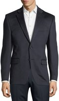 Neiman Marcus Cashmere Two-Button Blazer, Navy