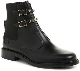 Valentino Beatle Rockstud Ankle Boot