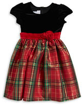 Iris & Ivy Girls 7-16 Plaid and Velvet Dress