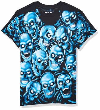 Liquid Blue Unisex-Adult's Skull Pile Blue Fantasy All Over Print Short Sleeve T-Shirt