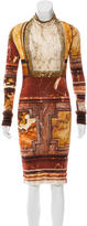 Jean Paul Gaultier Abstract Print Bodycon Dress