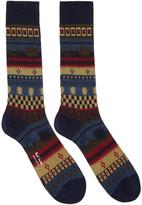 Paul Smith Navy Pattern Socks