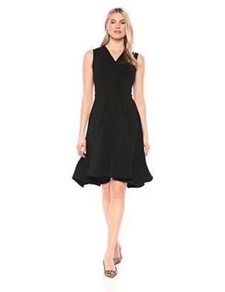 Calvin Klein Women's Sleeveless Hi Low Fit & Flare Dress with V Neckline