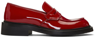 Prada Red Patent Loafers