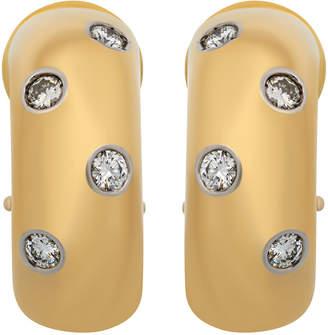 Tiffany & Co. Estate Estate 18K Yellow Gold Scattered Diamond Earrings