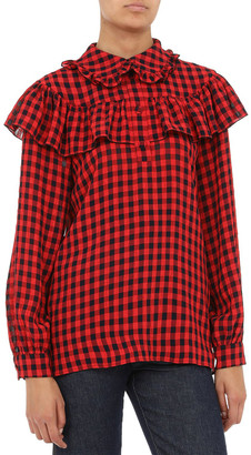 Philosophy di Lorenzo Serafini Checkered Blouse