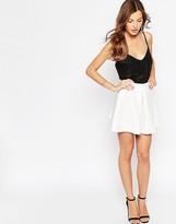 Oh My Love Scuba Pleated Skater Skirt
