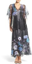 Komarov Charmeuse A-Line Dress & Shawl (Regular & Petite)