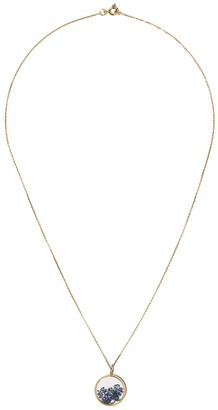 Aurélie Bidermann 18kt yellow gold sapphire Chivor baby medallion necklace