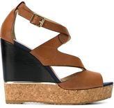 Jimmy Choo Nate 120 sandals - women - Calf Leather/Leather/Cork/rubber - 40