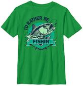 Fifth Sun Kelly Green 'Rather Be Fishin' Tee - Boys