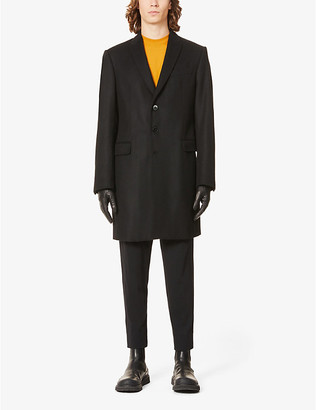 Emporio Armani Single-breasted wool and cashmere-blend coat
