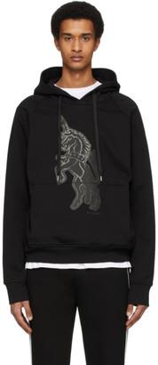 Neil Barrett Black Unicorn Hoodie