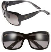 Maui Jim Women's 'Seven Pools' 62Mm Polarized Sunglasses - Gloss Black Fade/ Grey