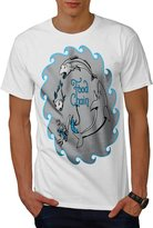 Top The Food Chain Fishing Life Men NEW XXXXL T-shirt | Wellcoda