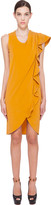 Viktor & Rolf Mustard Yellow Ruffle Dress