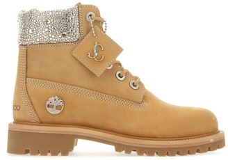 Jimmy Choo JC X Timberland Sequin-Embellished Ankle Boots