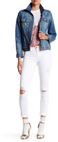 Genetic Los Angeles Shya White Distressed Skinny Jean