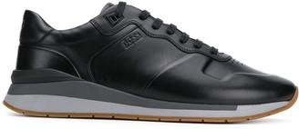 BOSS low top wedge sole sneakers