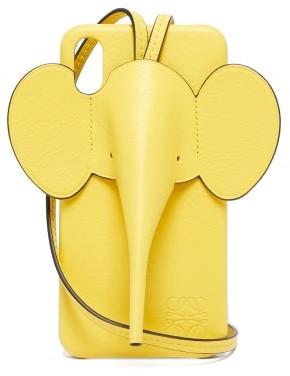 Loewe Elephant Leather Iphone Xs Max Case - Womens - Yellow