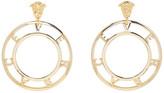 Versace Gold Logo Earrings