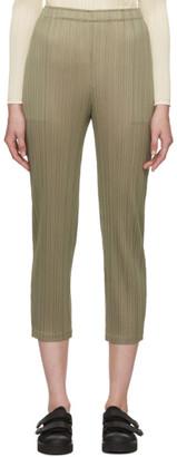 Pleats Please Issey Miyake Grey Pleats Slim Trousers