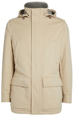 Brunello Cucinelli Silk-Cotton Padded Jacket