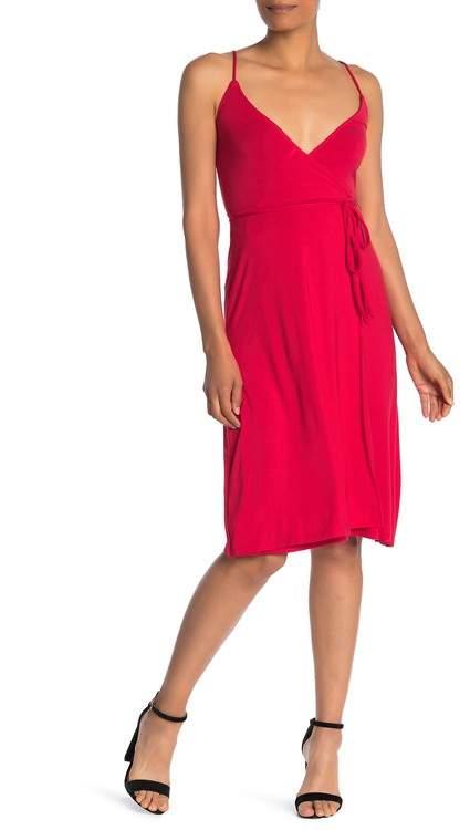Velvet Torch Faux Wrap Knit Dress