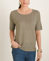 Chico's Chicos Short-Sleeve Dolman Pullover Sweater