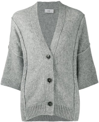 Closed 3/4 Sleeves Oversized Cardigan