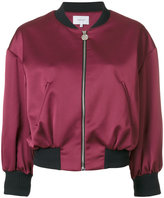 Carven cropped bomber jacket - women - Polyamide/Polyester/Acetate/Viscose - 36