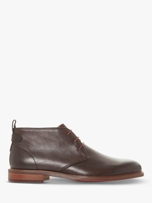 Dune Marching Leather Desert Boots, Brown
